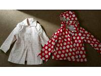 Girls coats size 5yrs and 5-6yrs