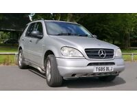 Mercedes ML320 4x4 5dr with Tow Bar Vialle LPG and 100 Litres tank - 330-350 miles for £30-35