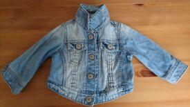 Next denim baby jacket (3-6 months)