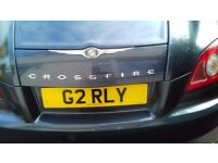 Chrysler Crossfire with private plate