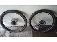 """24"""" front and back disc wheels"""