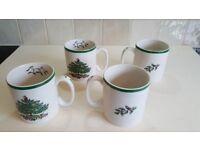 Spode Christmas Tree 4 mugs new - set two of two