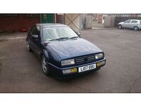VW Corrado VR6 - like mk2 golf - Solid example in Aqua blue - 12 months mot - rare classic now!
