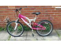 Girls Malibu Firesky for ages 10+.24 inch wheels 15 Inch frame Good Condition and ready to ride