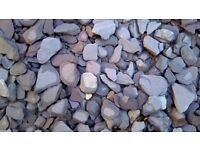 Ornamental garden slate in grey for sale and removal