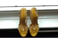 Yellow Leather Cork Wedge Sandals , size 6 (39) from Marc Jacobs