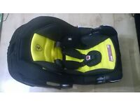 baby Infant Car seat FERRARI used 4 times like new with rain cover