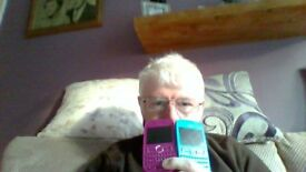 TWO NOKIA PHONES ONE BLUE ONE PINK