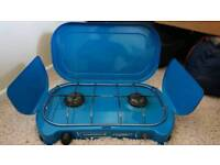 Camping stove double burner