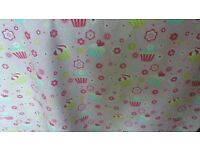 Pink girls Dunelm 'cupcake' curtains