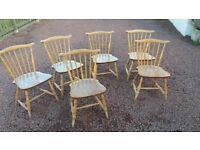 vintage ercol chairs x6 blonde