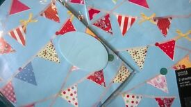 5 for the bundle lot wrapping paper gift decorations 10 new rolls & 2 packages bunting design