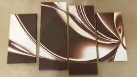 4piece abstract canvas wall art £15