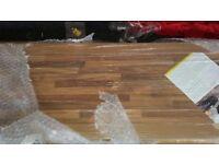 brand new homebase 3m long light walnut block laminate worktop rrp£169