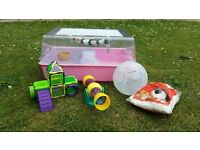 Hamster home and accessories