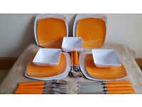 Pinic plates, dishes and cutlery NEW