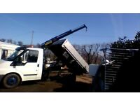 transit tipper with hiab