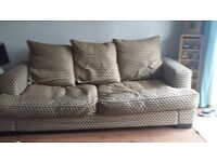 LARGE 2 SEATER AND 4 SEATER SOFAS IN VERY GOOD USED CONDITION FREE LOCAL DELIVERY