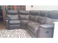 Leather Sofa with Curved back