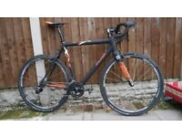 Raleigh Rx Race Carbon Cyclocross Bike & Hope Carbon Wheels