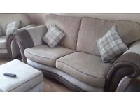 Stunning sofa chair and pouffe