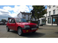 Beautiful Low mileage Peugeot 205 auto, long mot, great condition