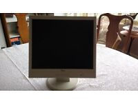 "Flat screen 12"" monitor with lead. Good working condition"
