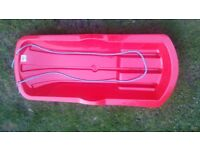 brand new Alpha snow sledge toboggan in durable plastic