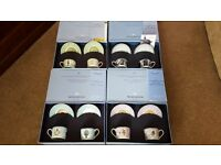 Wedgewood Millenium boxed gift sets with two cups and saucers in each box