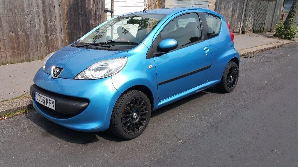 peugeot 107 blue + new 15'' alloys + tyres uprated sound system