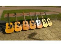 Guitar job lot acoustic guitars