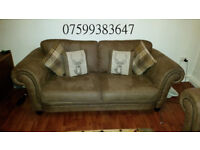 Large 3 seater and 2 seater sofa's