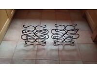 Wine racks (solid iron)