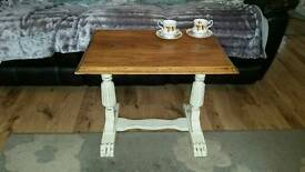 Shabby chic vintage oak side table