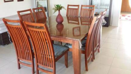 Solid Timber Square Dining Table & 8 Chairs Toowoomba Surrounds Preview