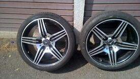 "mercedes amg 18"" alloy wheel 225/40R 18"