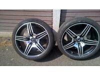 """mercedes amg 18"""" alloy wheel 225/40R 18"""