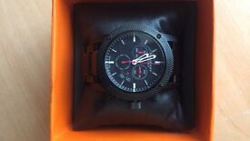 Authentic Mens black burberry watch