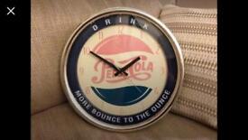 Vintage Style Pepsi Wall Clock