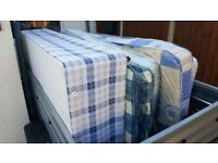 Single bed mattress and base / bases with storage. Single bed.