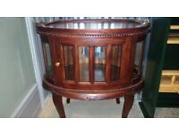 Antique style display cabinet.
