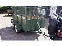 TWIN AXLE MESH SIDED TRAILER