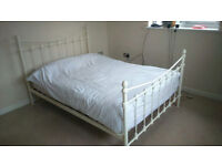 good quality metal bedframe and mattress (double)