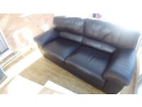 6ft Brown Leather Sofa orig price £2000 Immaculate!!