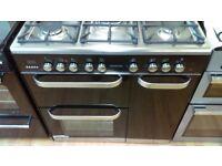 KENWOOD CK503 Dual Fuel Range Cooker - Black 90cm