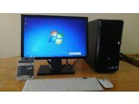 FAST SSD - Dell Vostro 230 Computer Tower PC & 19 Dell LCD