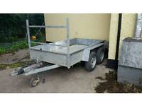 8 2 X 4 2 twin axle trailer fully galvanised 4 wheels breakes co