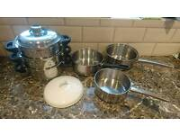 4x pots ( steam pot)