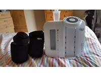 Tommee tippee prep machine. 2 bottle warmers. 6 milk storage pots