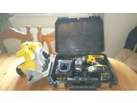 Used Dewalt cordless 18 v tools set, DRILL/CIRCULAR SAW, etc, GWO, see photos & details
